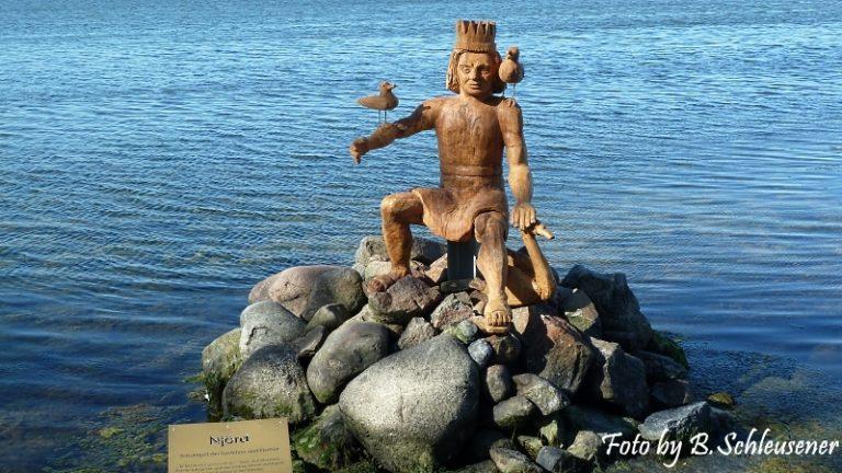 Die neue Statue des Njörd