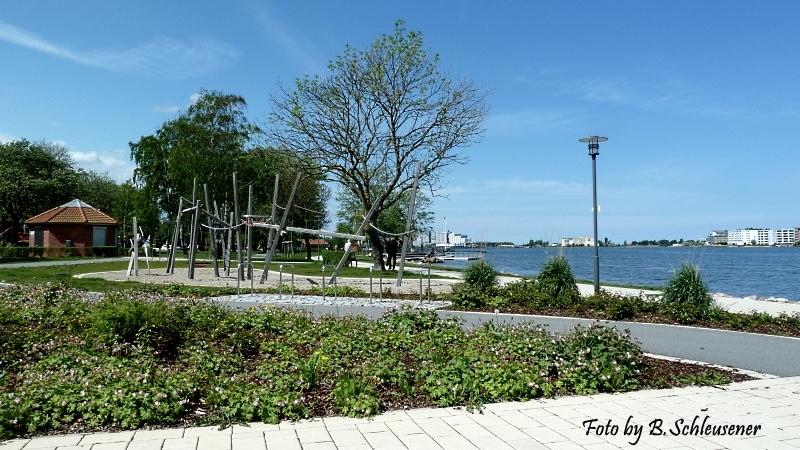 Beginn der südlichen Promenade