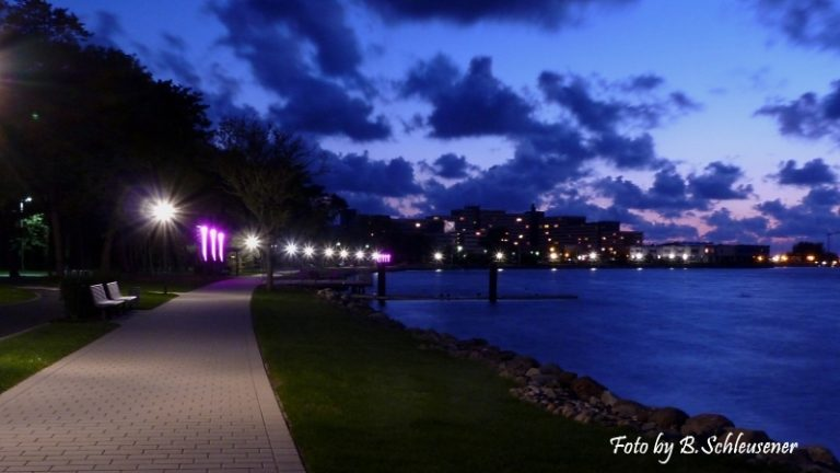 Südpromenade am Abend
