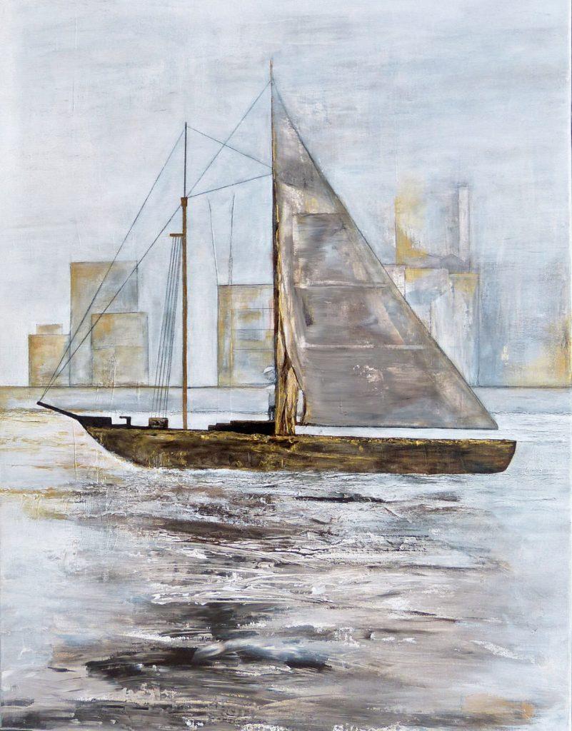 Renate Straatmann -%20 Ahoi! Acryl-Mischt. a. LW 80x60